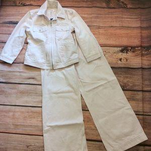 Lauren Jeans Co Denim Jacket & Wide Leg Jeans